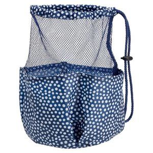 Other - Cute polka dot drawstring Hanging Shower Caddy